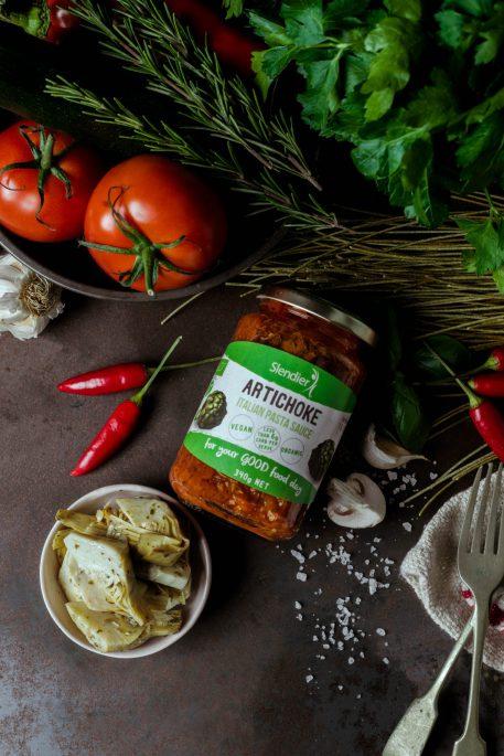 Artichoke italian pasta sauce slendier