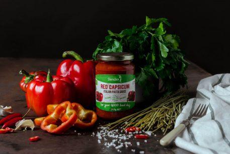 Red capsicum pasta sauce slendier