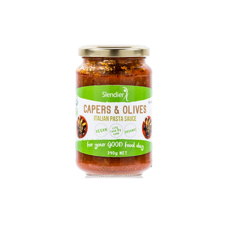 Capers and olives sauce slendier