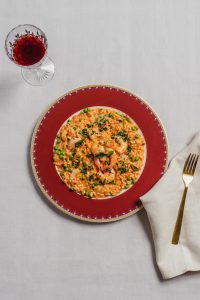 Red capsicum sauce prawn chilli slendier