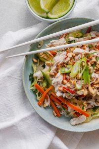 Vietnamese chicken noodle salad slendier