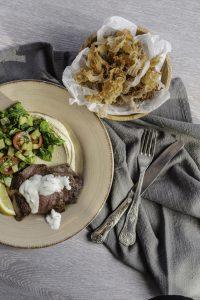 Warm greek lamb salad slendier